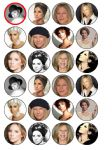 24 x Barbara Streisand Edible Wafer Paper Cupcake Toppers